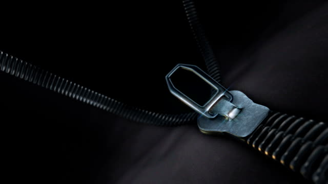 Unzipping a zipper, realistic 3d animation, video