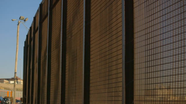 Up Close Border Fence by Highway video