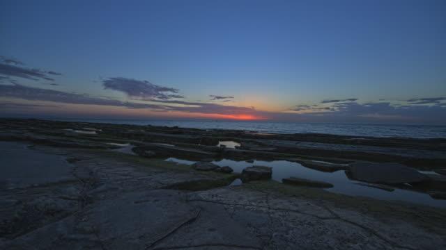 Up Pan Mediterranean Sea Sunset Time Lapse. video