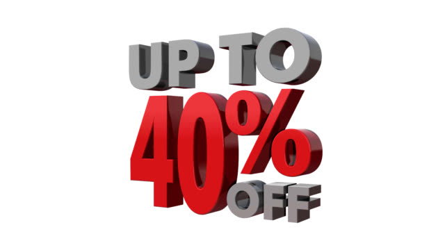 Up to 40% off. video