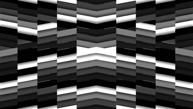Upbeat Monochromatic Chevron Tile Background Loop video