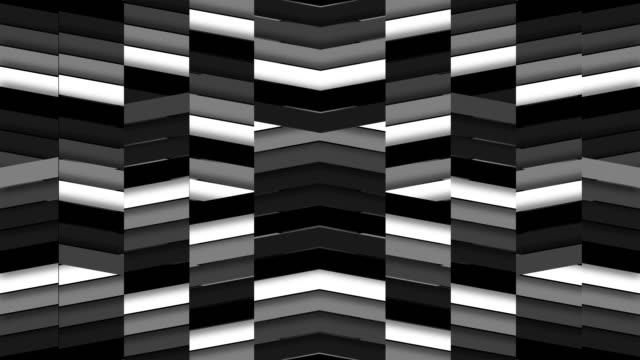 Upbeat Staggered Monochromatic Chevron Tile Background Loop video