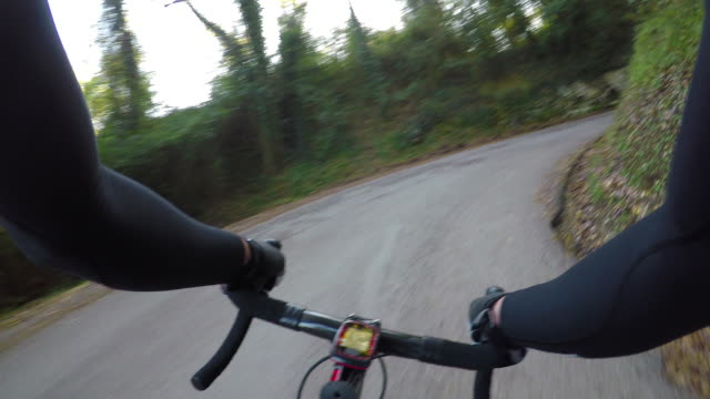 Uphill cycling on beautiful Chianti region roads, Tuscany video