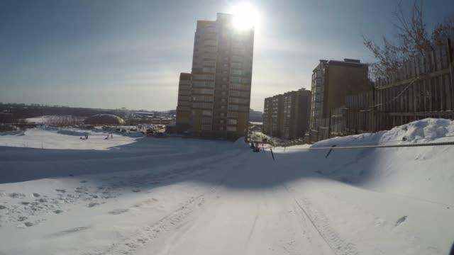 上り坂の乗馬ビデオ ビデオ