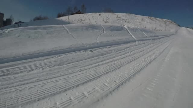 上り坂の乗馬ビュー ビデオ