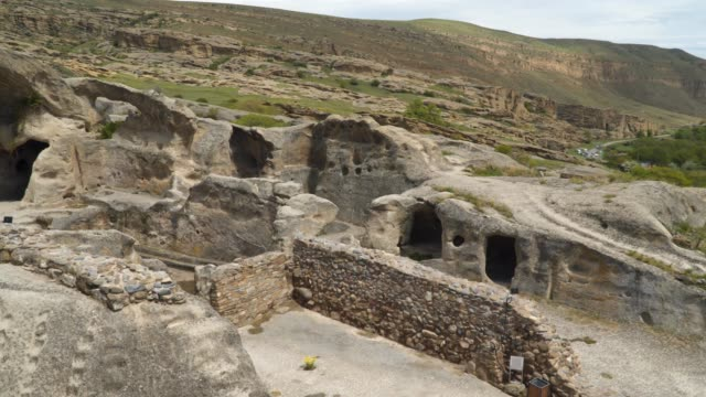 Uplistsikhe is an ancient rock-hewn town in eastern Georgia