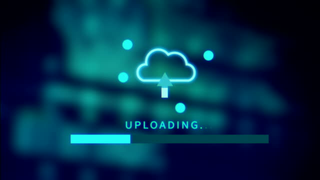 upload screen progress bar technology background video