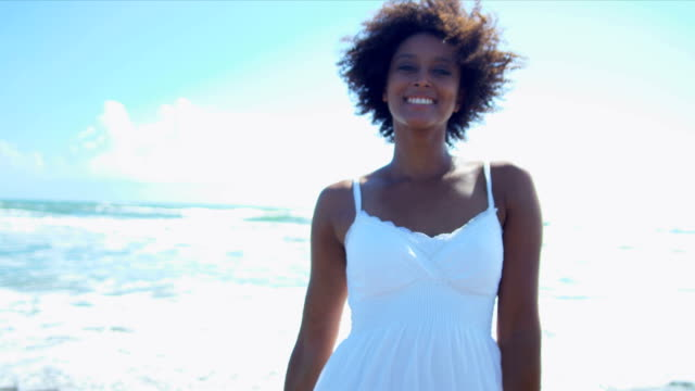 Upper Body African American Beach Girl video