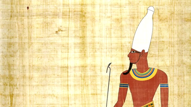 Upper Egypt Pharaoh In A Papyrus Background video