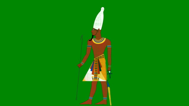 Upper Egypt Pharaoh on a Green Screen Background video