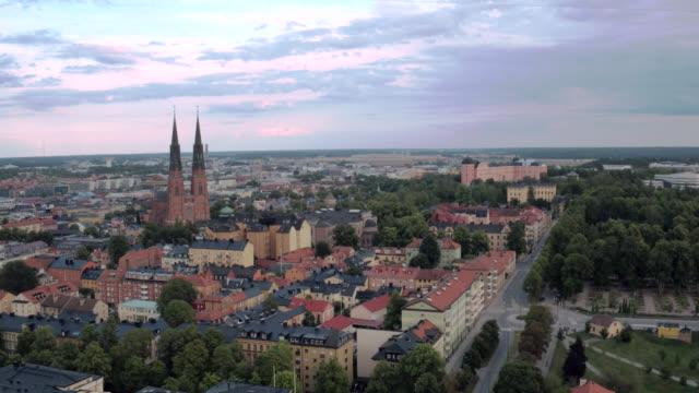 uppsala-staden från ovan - sweden bildbanksvideor och videomaterial från bakom kulisserna