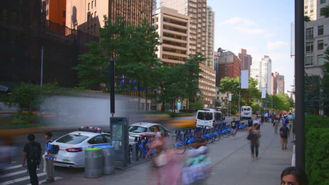 uptown broadway day light traffic 4k time lpase from new york video