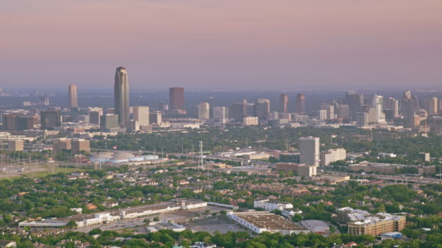 AERIAL Uptown Houston with Williams Tower rising above it video