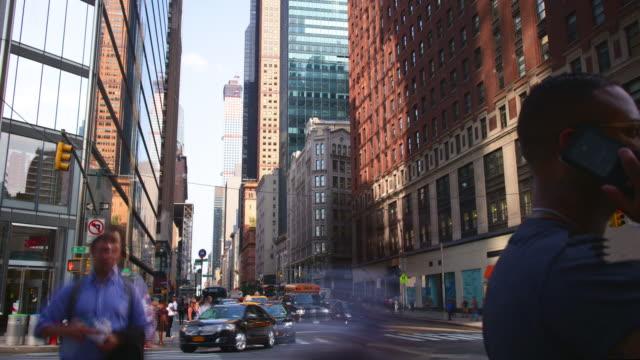 uptown manhattan traffic street 4k time lapse from new york video