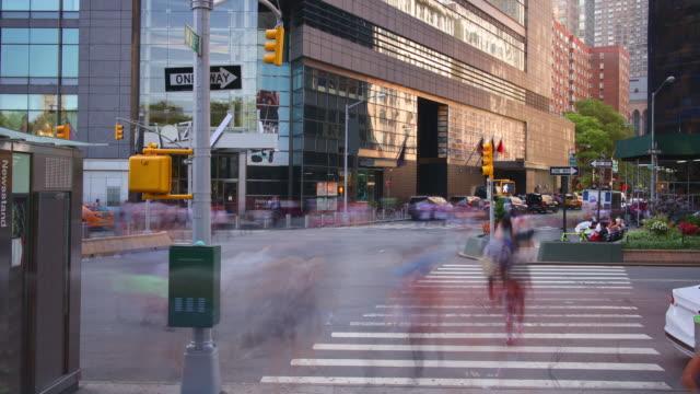 uptown manhattan traffic street day light 4k time lapse from new york video