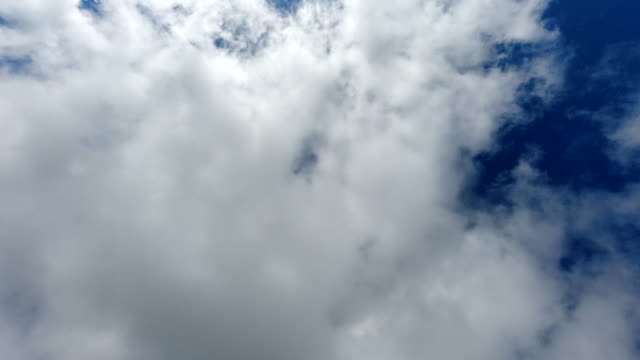 Upwards view of a time-lapse sky with clouds and blue sky. video