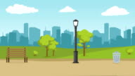 istock Urban City Landscape Street Road with Trees and Skyline Background 1221066907