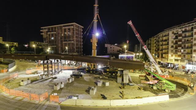 vídeos de stock e filmes b-roll de urban construction site timelapse - ponte
