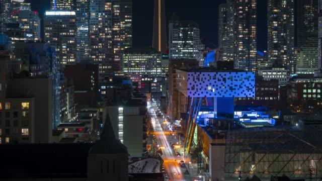 Video Urban Night Traffic Timelapse