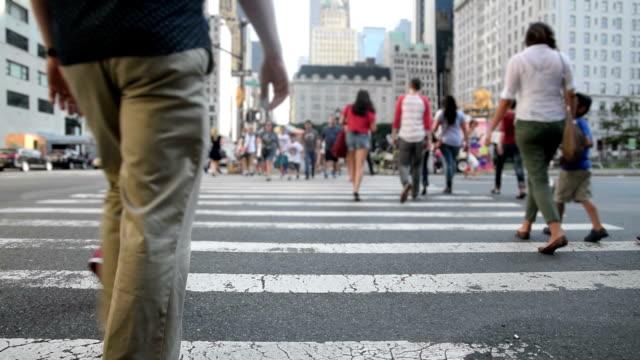 urban scene in slow motion video