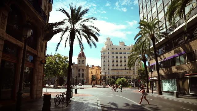 Städtisches Motiv in der Stadt Valencia, Spanien – Video