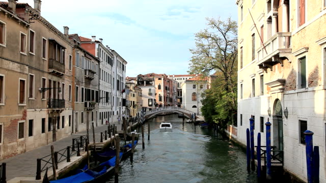 Urban Scene Inside A Canal Of Venice, Italy video