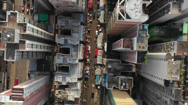 Urban Skyline , Aerial top view Hong Kong City