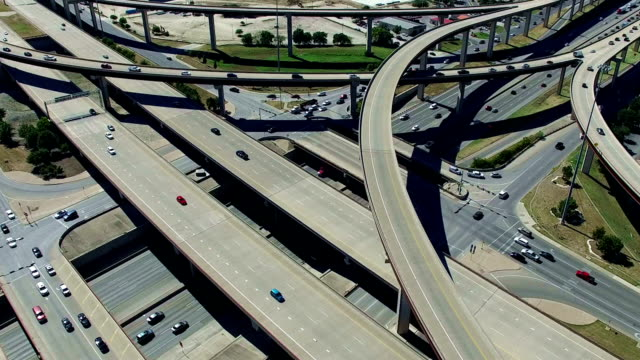 Urban Sprawl Highways Intersections Overpass and Major Transportation Crossroads Austin Texas Mega Roads video