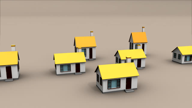Urban Sprawl identical Houses pop up from nowhere and extend into the far distance. depicting urban growth and land development cookie cutter stock videos & royalty-free footage