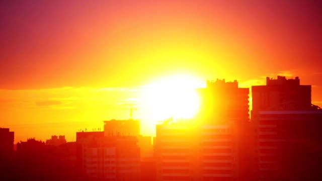 Urban Sunset Timelapse. 1920x1080 video