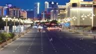 istock Urban traffic scene in Bayi Square, Nanchang, Jiangxi 1329810648