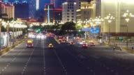 istock Urban traffic scene in Bayi Square, Nanchang, Jiangxi 1329810675