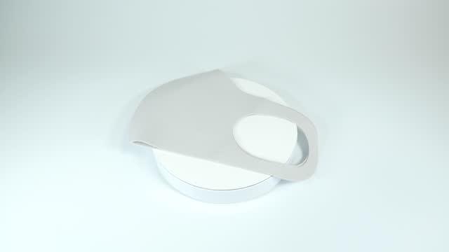 maschera di uretano grigia - poliuretano polimero video stock e b–roll