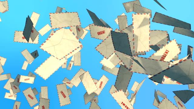 vidéos et rushes de urgent de courrier - carte postale