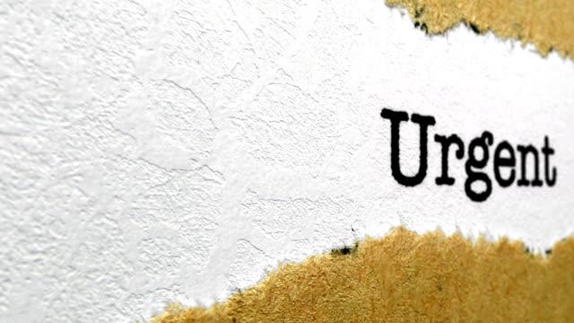 Urgent text on torn paper video