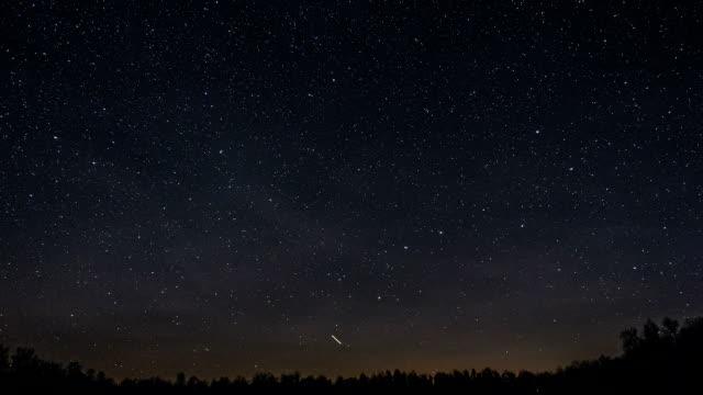 Ursa Major Constellation travel across the sky video