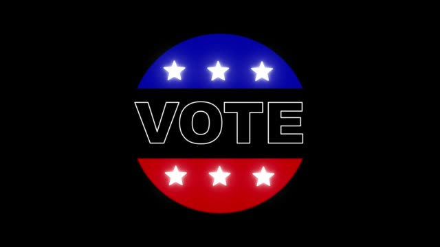 vídeos de stock, filmes e b-roll de vote-nos eleição - distintivo