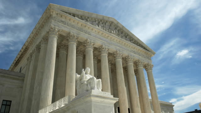 us supreme court and statue contemplation of justice in washington dc
