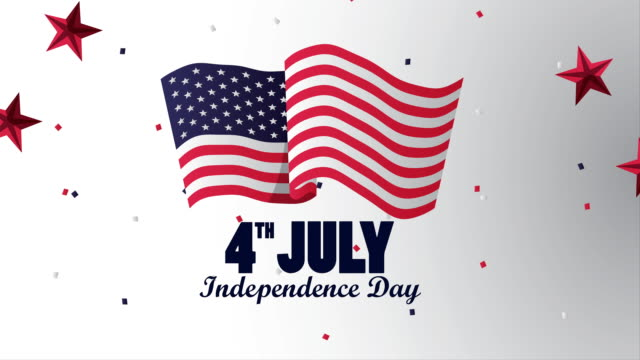 Bидео usa independence day celebration with flag