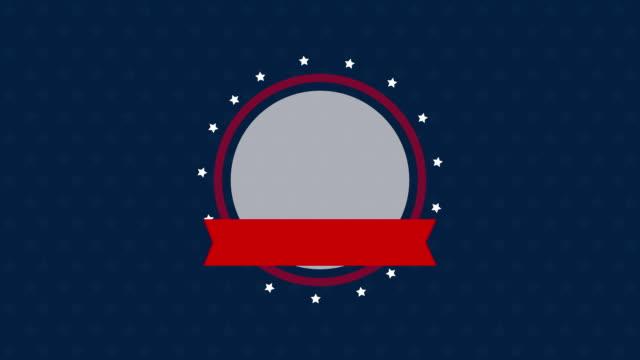 usa Arbeitstag FeierRahmen mit Symbolen – Video