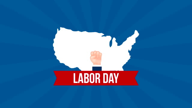 usa labor day celebration with map video