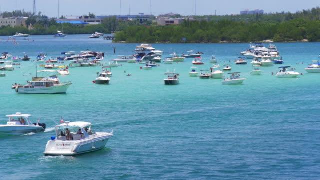 Usa miami beach summer day gulf yacht parking place 4k florida video