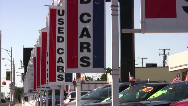 Used cars. Car dealership Used cars. Car dealership car dealership stock videos & royalty-free footage