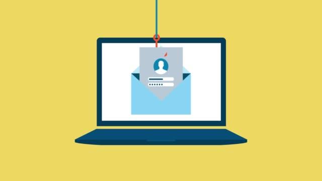 wyłudzanie danych użytkownika na laptopie - phishing filmów i materiałów b-roll