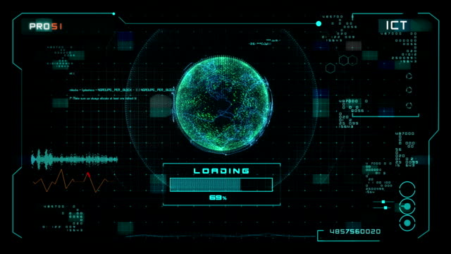 User Interface Motion Graphics loadiong video
