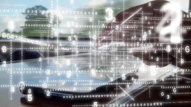Using a phone in a data matrix. - vídeo