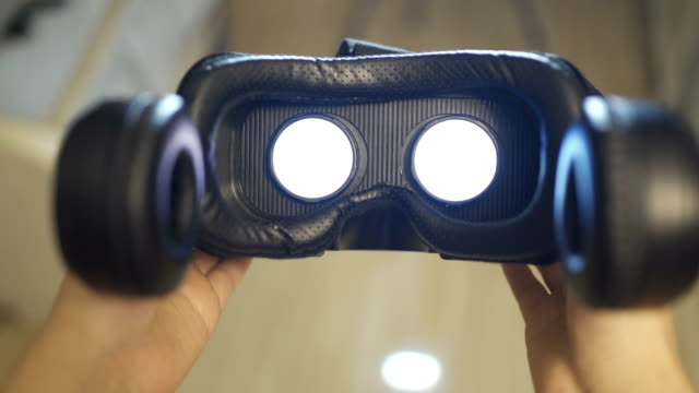 Using a virtual reality glasses at home