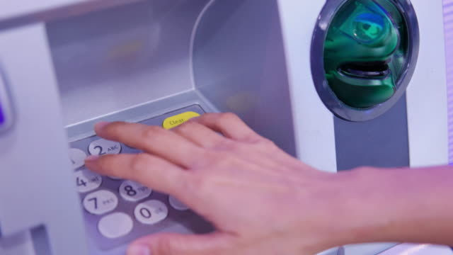 using atm machine - banks and atms stock videos & royalty-free footage