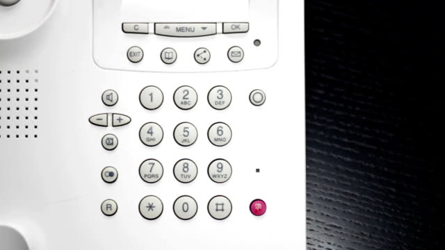 using Business Phone - closeup compilation man enters numbers on a landline phone - close up - collection landline phone stock videos & royalty-free footage