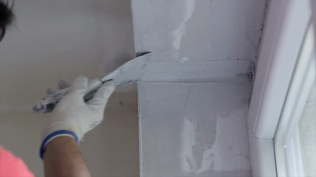 Using construction material in repairing old home Using construction material in repairing old home craftsman architecture stock videos & royalty-free footage
